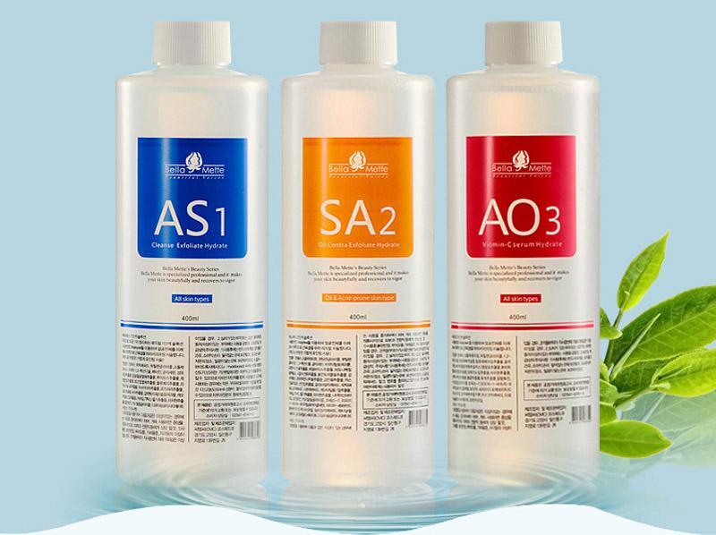 Oxygen peel machine Aqua peeling solution 400ml per bottle aqua facial serum hydra facial serum for normal skin