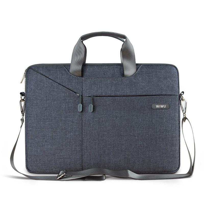 """Wiwu 13.3 بوصة حقيبة كمبيوتر محمول 15.4 """"كمبيوتر محمول كم حالة حقيبة كتف للماء جنت حالة وجيزة ل macbook pro / الهواء 12"""""""