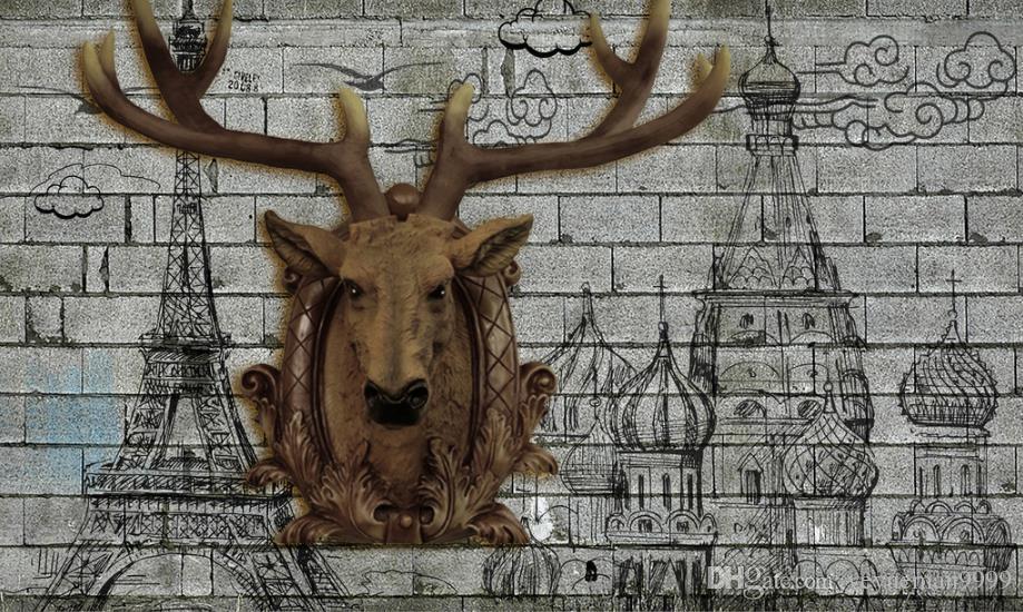 Rollos de papel de pared personalizados Paisaje animal fondos de pantalla 3d pared sala de estar decoración TV fondo foto pared