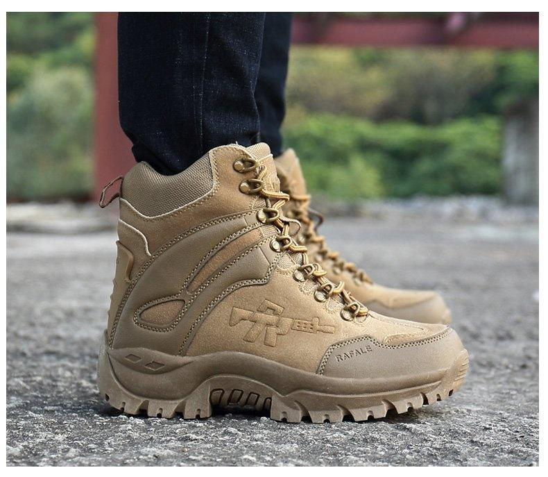 Winter Mens Military Tactical Boots Leather Desert Outdoor Combat Army Boots Hiking Shoes Travel Botas Male Trekking Snow Boots Size 11 12 Skechers