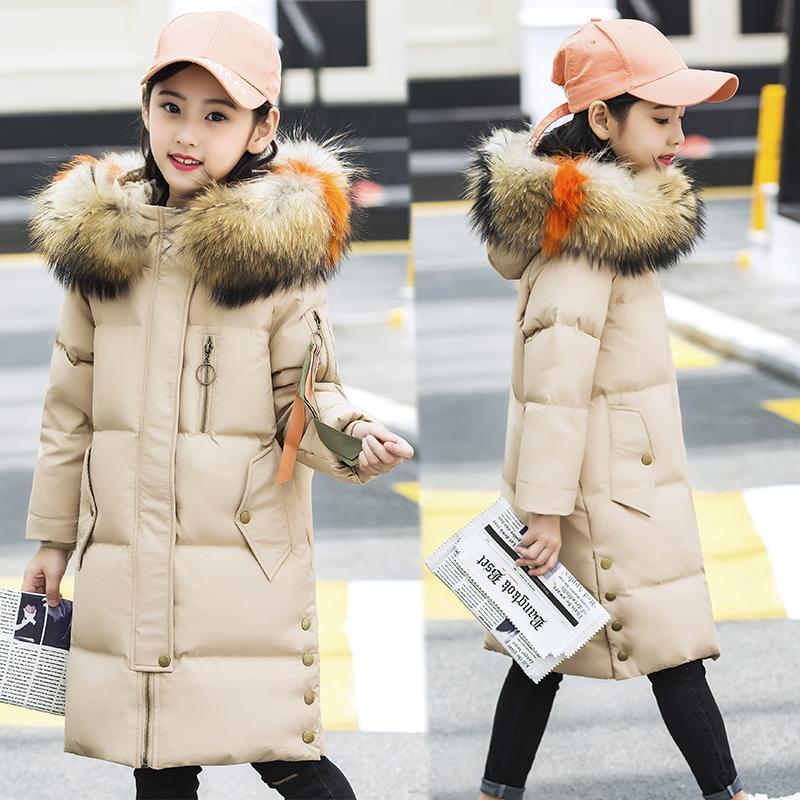 High Quality Boys Girl Duck Down Jacket 2018 New Winter Thicken Children's Down Coat Jackets Girl Big Fur Collar outerwear 6-14Y
