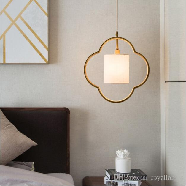 SVITZ New Chinese antique copper lamp small Pendant Lights bedroom bedside lamp Zen style restaurant simple copper modern lamps