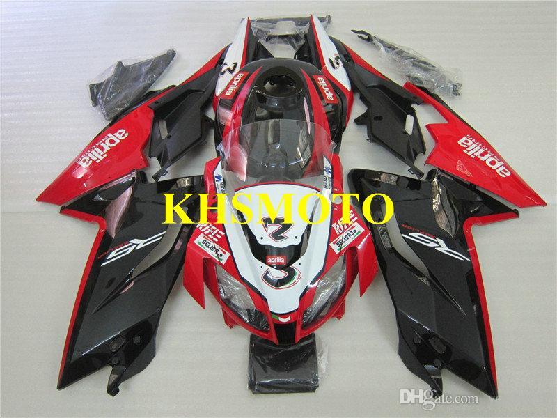 Aprilia RS125 için enjeksiyon kalıp Fairing kiti 06 07 08 09 10 11 RS 125 2006 2011 Kırmızı, siyah kaportalar AA06