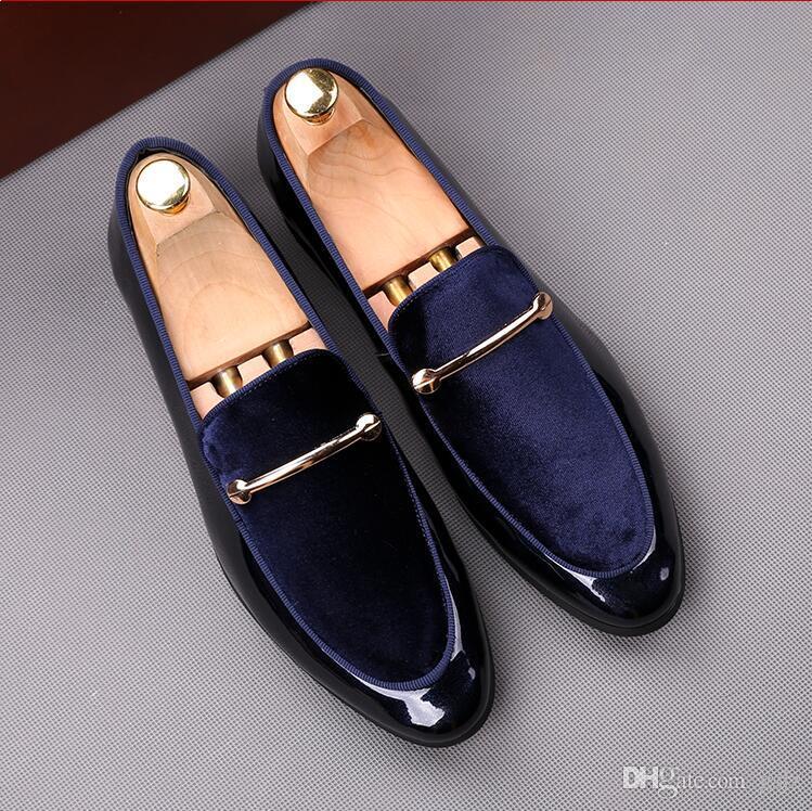 2018 nuovo stile di marca scarpe casual uomo mocassini vestito da scarpe in pelle affari ufficio scarpe moda gregge formali scarpe da sposa uomini S222
