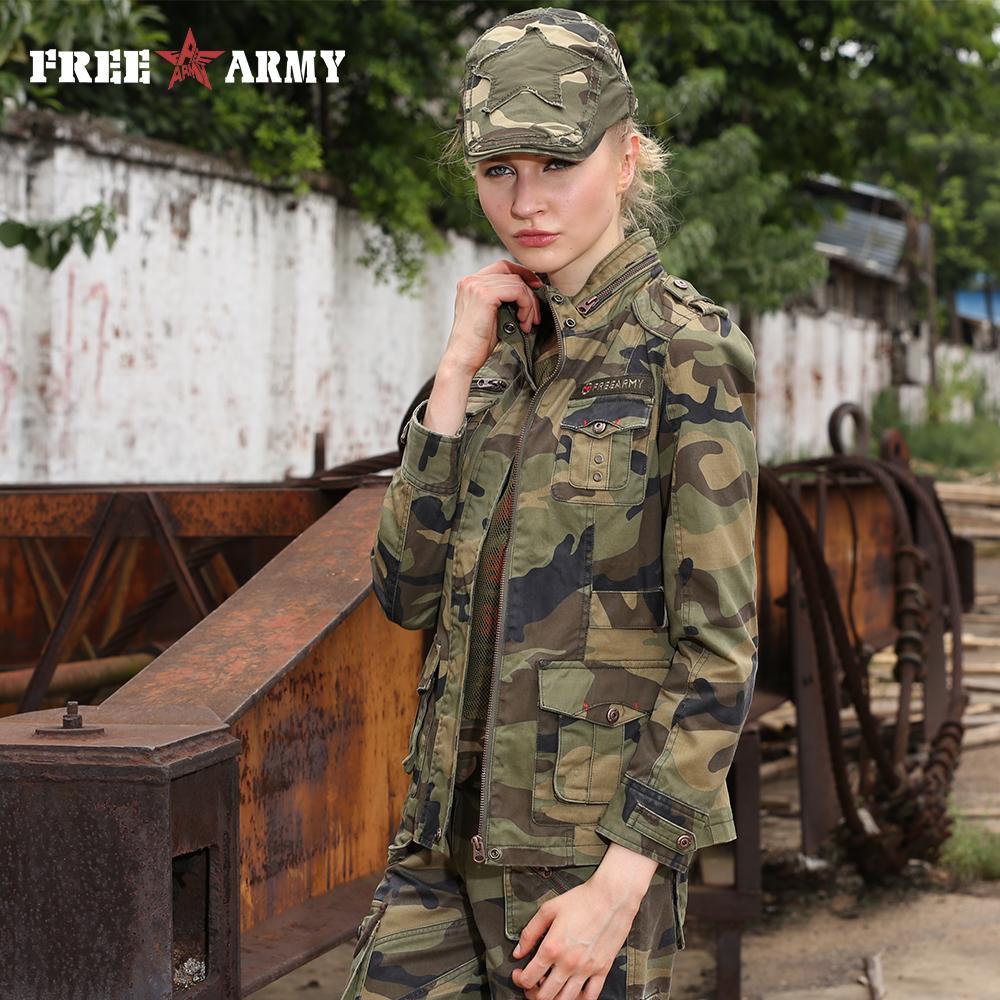 Jacke Marke Dünne Damen Jacken Reißverschluss Von Und Camouflage Fashion New Mäntel Mantel Herbst Frauen Stehkragen Military Großhandel Gs 8253b WDH92IEeYb