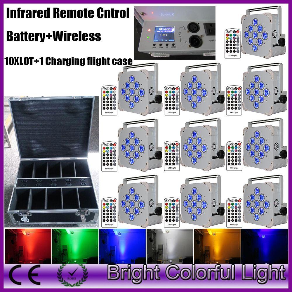 Good quality 2018 Hot sale RGBWA +UV led battery wireless dmx led uplights bright led par light for wedding decor party Disco DJ