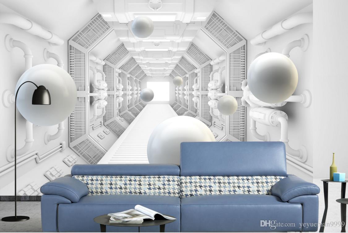 Fondo de pantalla 3d personalizado para paredes 3 d sala de estar TV telón de fondo Papeles de pared de la bola decoración para el hogar foto fondo de pantalla de ladrillo 3d