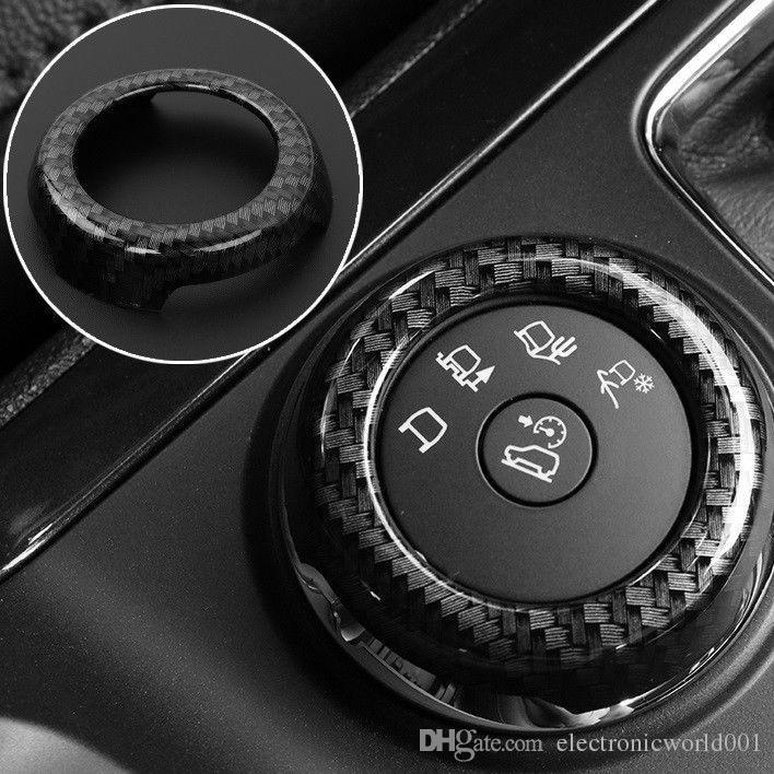 chiave pulsante di controllo in fibra di carbonio copertura decorativa assetto per per Ford Explorer 2016-2018