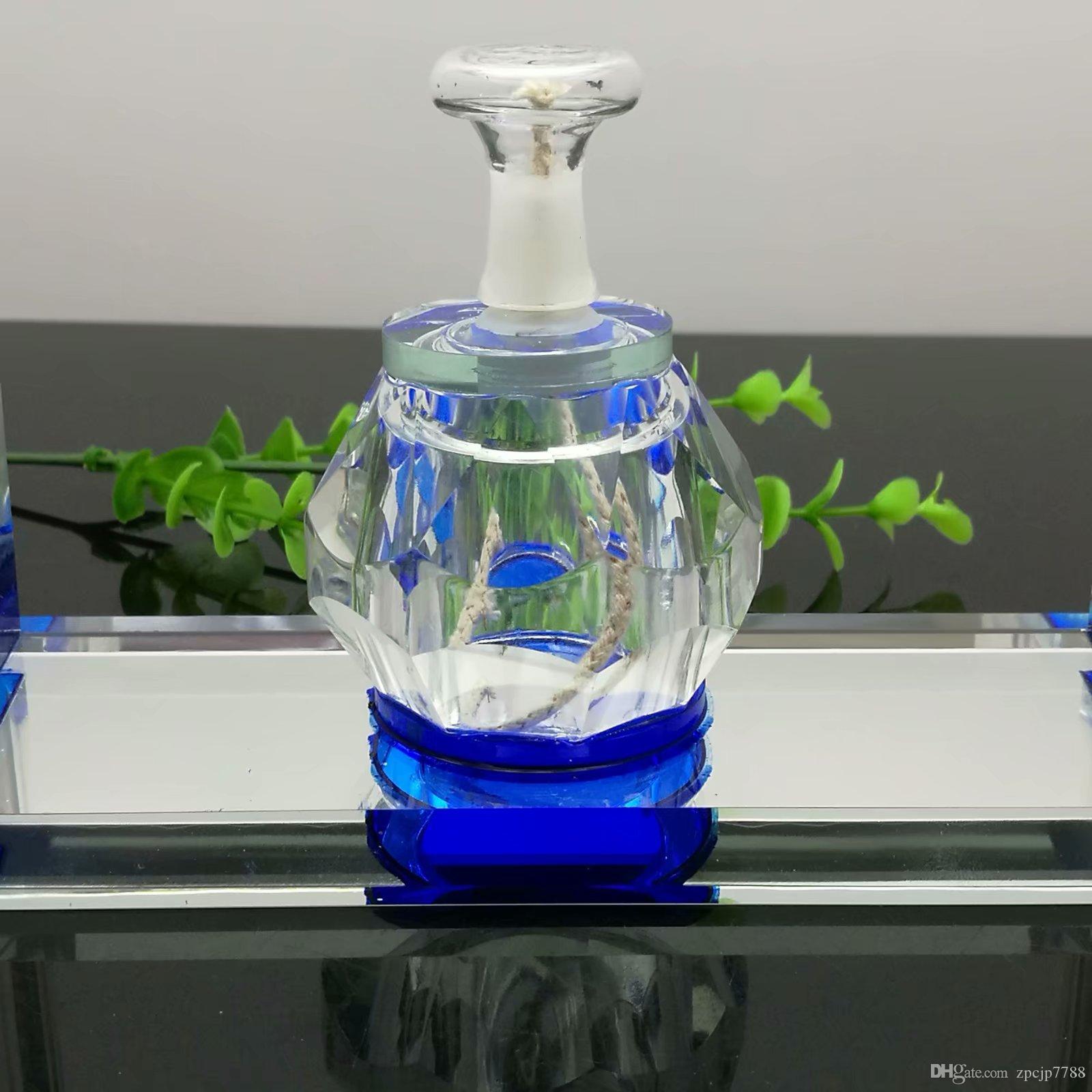 Двойной хрустальный чайник, стеклянная спиртовая лампа, стеклянная трубка для бонга, титановая шлифовальная машина, стеклянные барботеры для курительных трубок, разные цвета