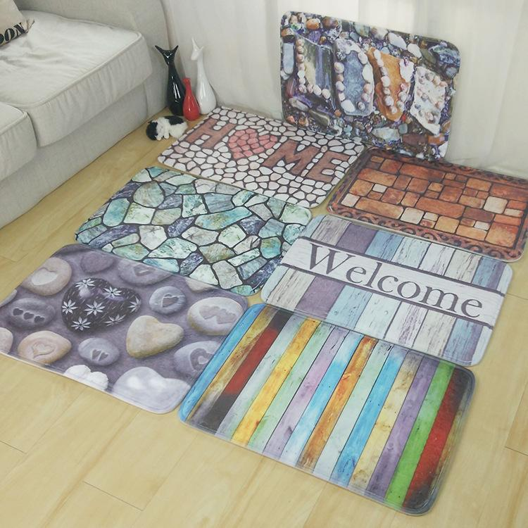 Stein Fußmatte für Eingang Bord Bar Türmatte Willkommen zu Hause Wasserabsorbierend rutschfeste bunte Teppich Küche Wohnzimmer Teppich