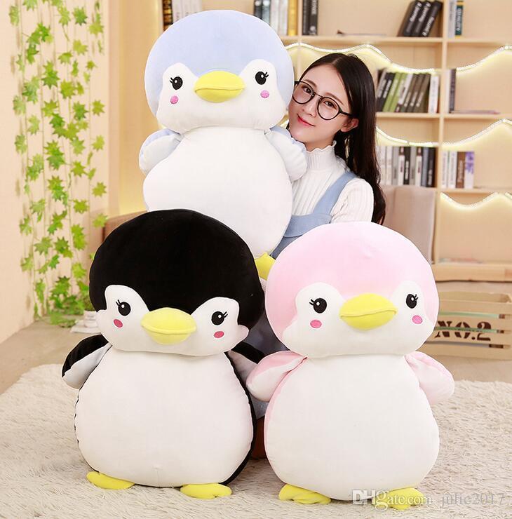 Hot Lovely Children Plush Stuffed Toy cartoon Couple penguin Baby Kids Toy for Christmas Birthday gift