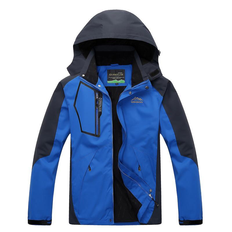 DIMUSI Chaquetas para hombre Abrigos con capucha impermeables de primavera Hombres Mujeres Ropa de abrigo Army Solid Casual Brand Ropa masculina 5XL, TA052