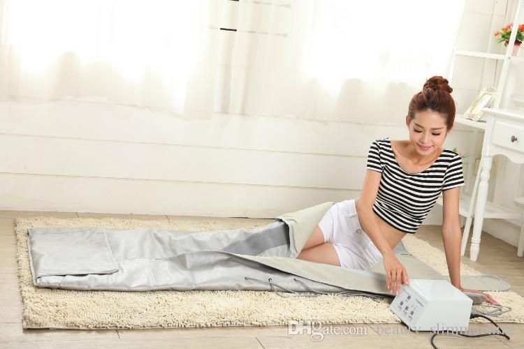 2 Зона пихты Сауна Far Infrared Thermal Body Slimming Сауна Одеяло Отопление терапия Тонкий сумка SPA Вес уменьшить Body Detox машины