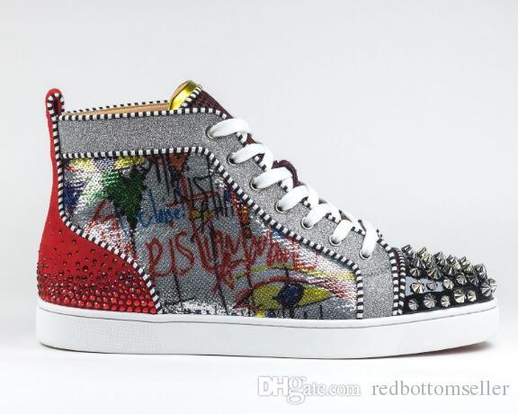Bottom Sneakers Men Shoes Luxury
