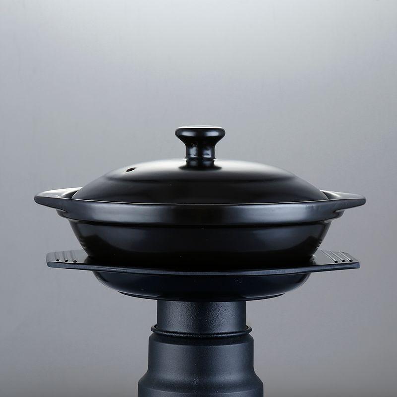 Preto Esmaltado Claypot Arroz De Cerâmica Caçarola Pot Panela Cantonese Pot Arroz Cooking Nenhum Logotipo Cocotte Ceramique