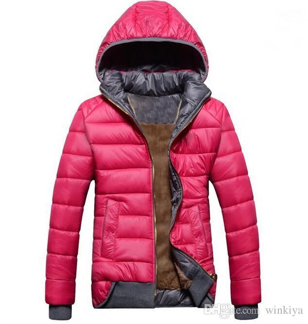 All'ingrosso-2019 nuovi modelli femminili giacca sportiva più velluto giù caldo inverno wd8162 rimovibile giacca con cappuccio delle donne del rivestimento