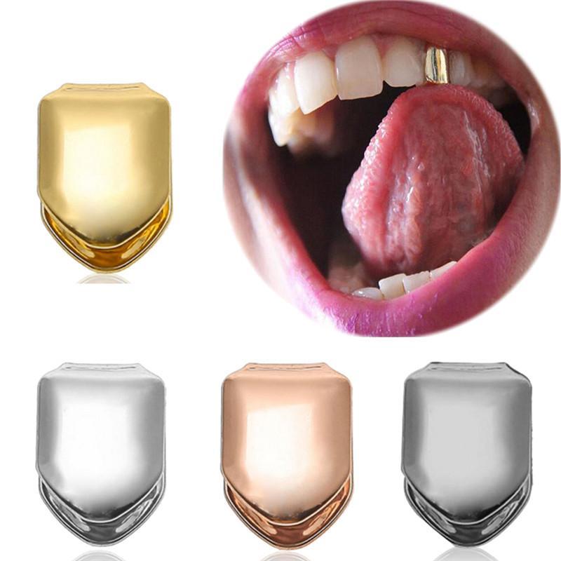 Gold Argento Denti Cap Dental Burs Hip-Hop Style Style Dente Brace Decoration Entertainment Adult Funny Party DirectCover