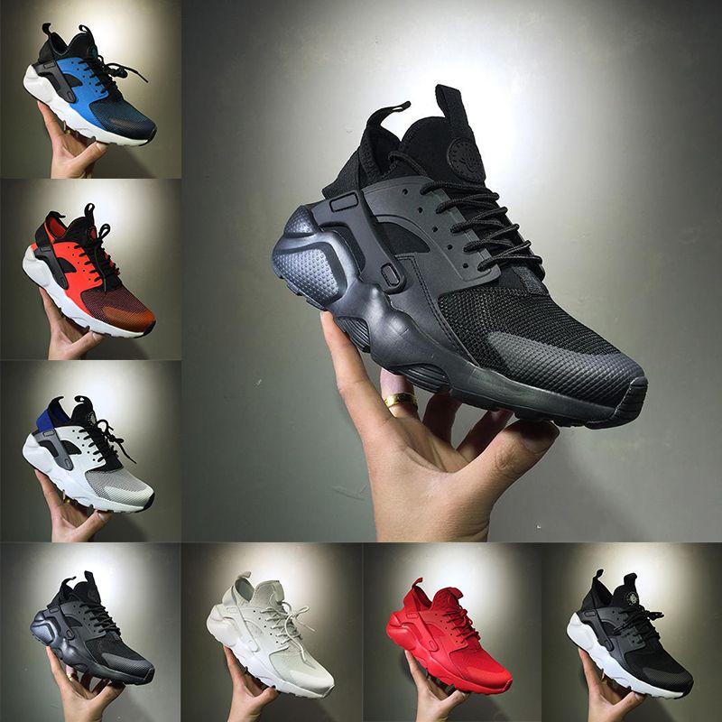 2018 Huarache IV 1.0 Scarpe da corsa per uomo Donna, Triple Nero Bianco rosso Sneakers alta qualità Huaraches Scarpe sportive da jogging taglia 36-45