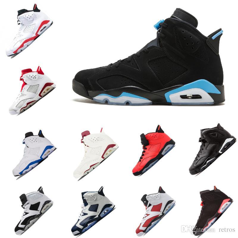 Nuevo lanzamiento 6 6s zapatos de baloncesto para hombre Negro infrarrojo Gatorade Oreo alta Toro enojado Auténtico deporte zapatillas de deporte tamaño 41-47