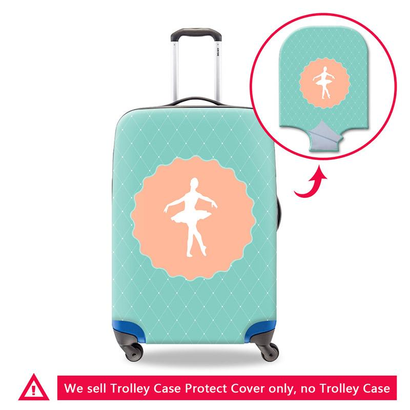 Green Luggage Cover for Girls Fashion Travel Accessory Strecth Suitcase Cover Thick Elastic Luggage Protective Cover 18-30 Inch Trunk Case