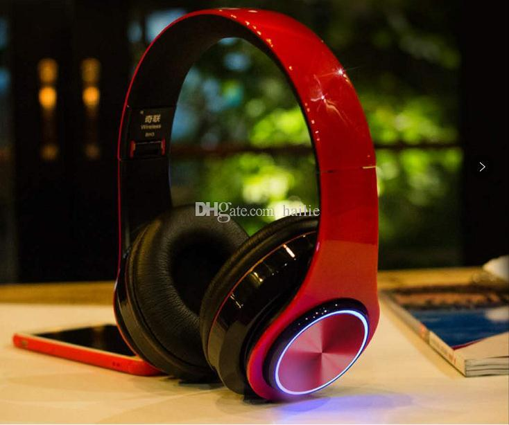 The new headset Bluetooth headset wireless mobile phone Bluetooth stereo version folding light headset Stereo Earphones Headsets