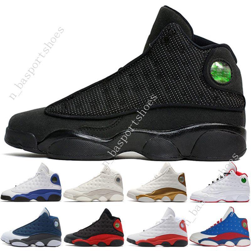13 13s Mens Basketball обувь Phantom Чикаго GS Hyper Royal Black Cat кремнем Разводят Он доигрались DMP мужчин спортивные кроссовки женские тренажеры