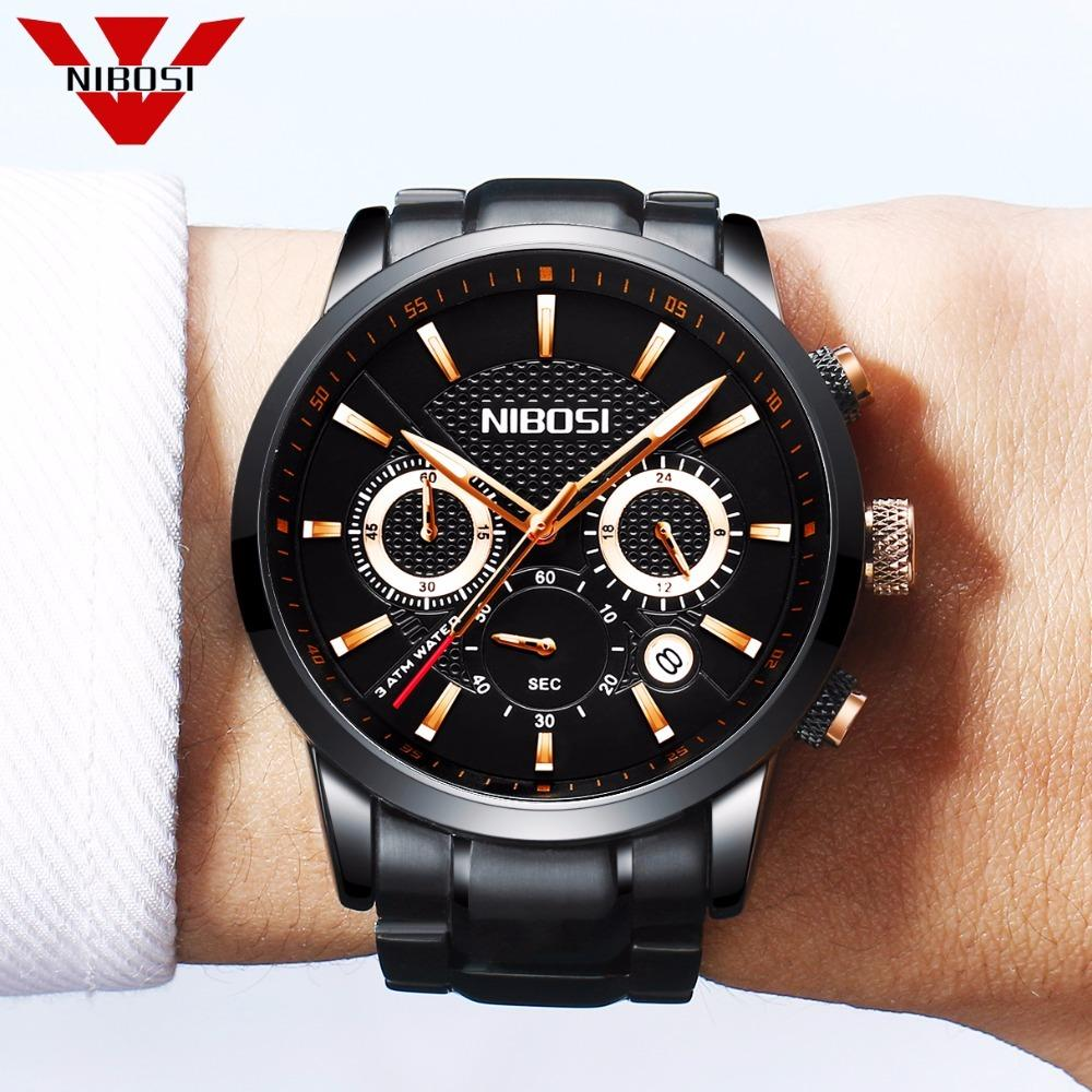 Mens Unique Luxury Business Quartz Watch Casual Fashion Analog Wristwatch Classic Calendar Date Window Waterproof 30M Waterproof Y1892111