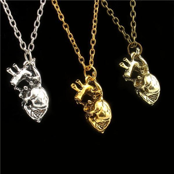 2018 2016 Anatomical Heart Pendant Necklace Vintage Anatomy Heart ...