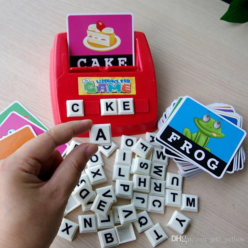 Free shipping Parent-child interactive toy Early childhood education Enlightenment English Word learning child English teaching aids board g