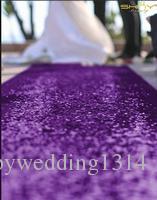 ShinyBeauty 4FTX15FT-Sequin Aisle Runner-Purple Sparkly Carpet Runner for Wedding/Christmas /Thanksgiving Decor,Party Runner, Sparkly Floor