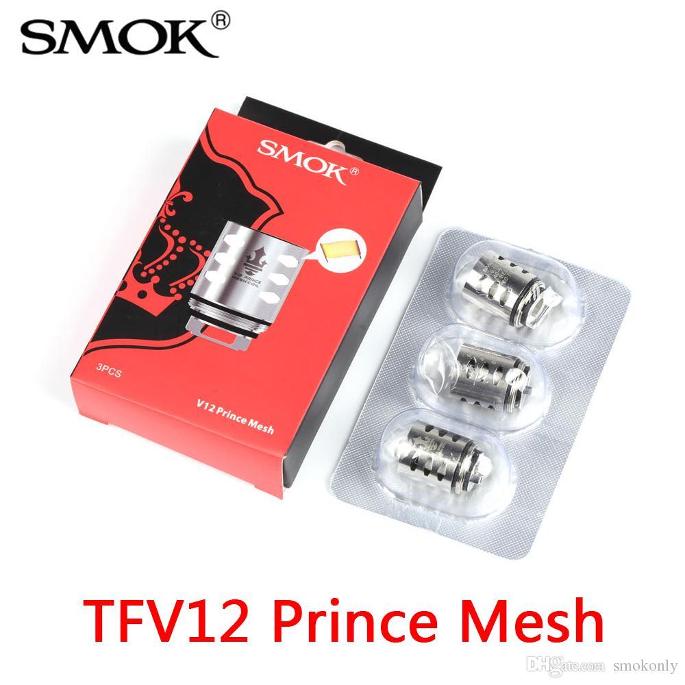 100% Authentique SMOK TFV12 Prince Bobines de Réservoir Bobine de Maille Têtes de Remplacement de Remplacement pour Atomiseurs V12 Prince vs Double Triple Max Bande
