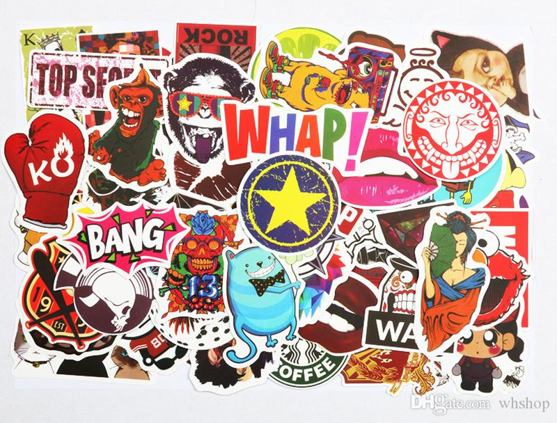 100x Cartoon Christmas Stickers Chidren Toy Waterproof StickerHelmet Car Decals