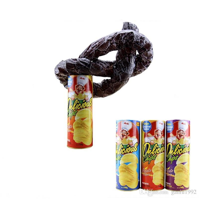 1X Kids Toys Trick Potato Chip Can Novelty Joke Prank Jump Snake Funny Tricky