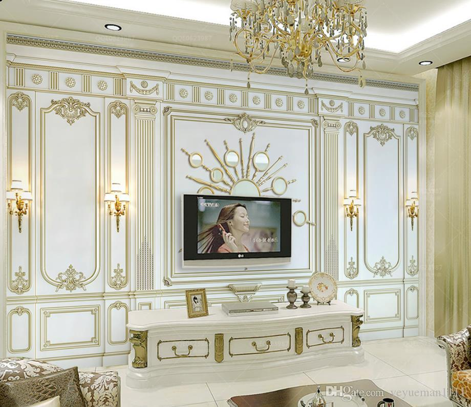 Papel tapiz mural personalizado 3D 3d en relieve Murales de pared 3d europeos 3 d Dormitorio sala de estar Fondo de pared no tejido papel tapiz