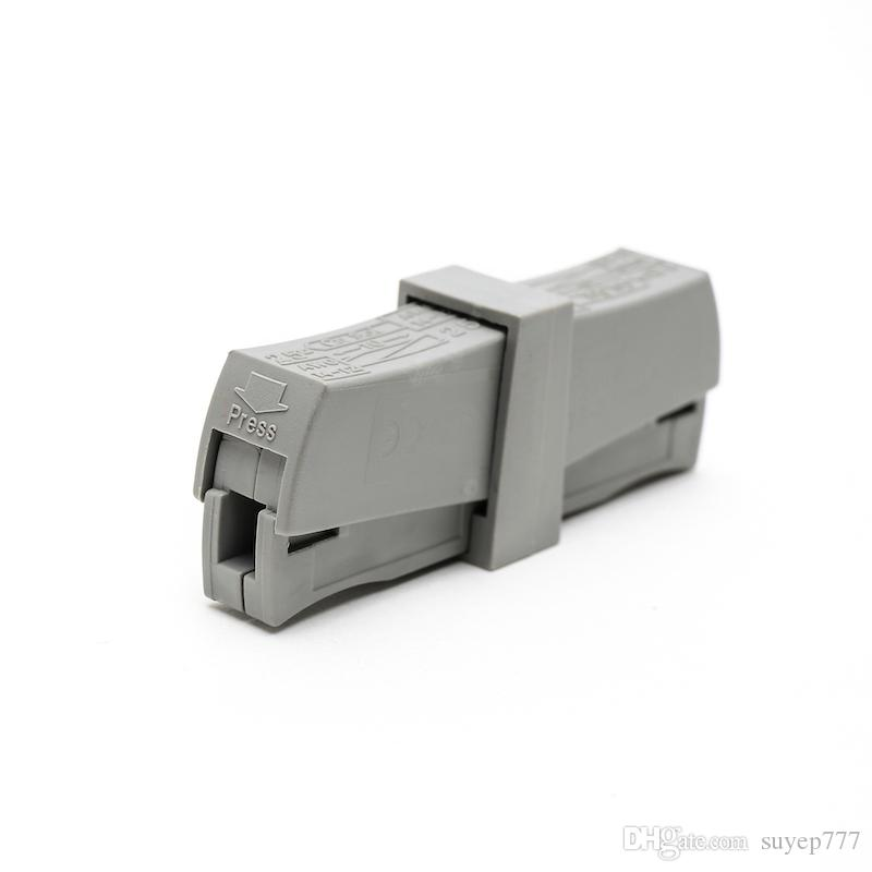 50PCS PCT-201 224-201 wire wiring connector Universal 1 Way Spring quick Connector cable clamp Terminal Block