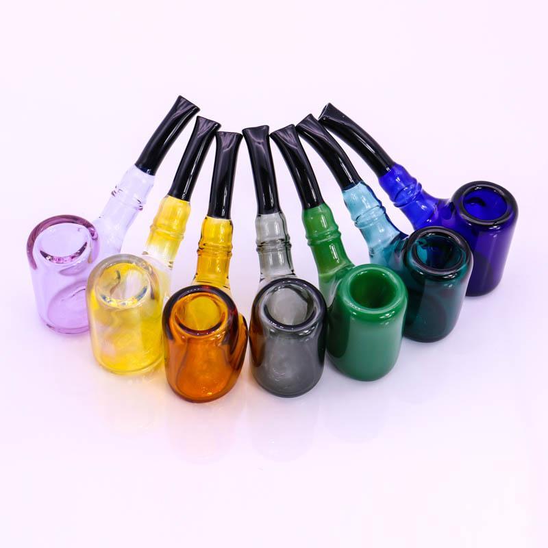 "Bunte Glas Sherlock-Rohr 82g Tabacco-Hukah-Rohre 5.7 ""Großhandel-Spoonpipes kleiner Bubbler"