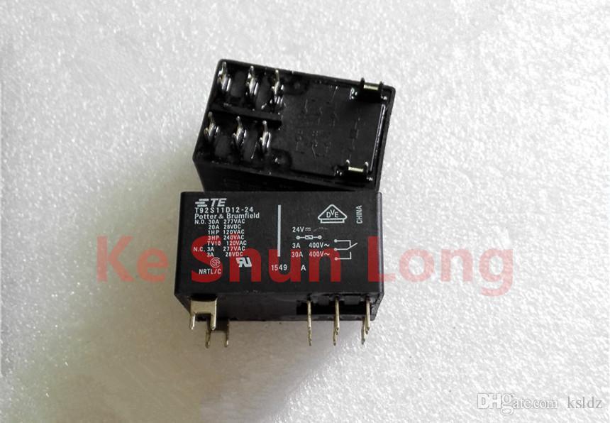 Frete grátis lote (5 peças / lote) TE T92S11D12-24 T92S11D12-24V T92S11D12-24VDC 8 PINOS 30A 12VDC Relé de Potência original Novo