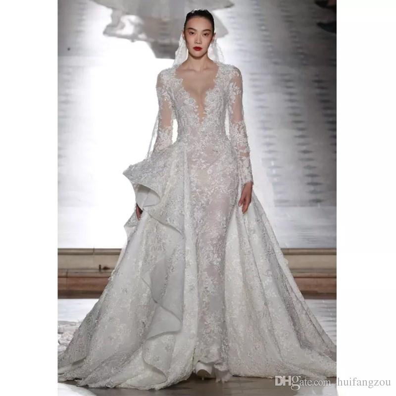 Großhandel Tony Ward Vintage Design Brautkleider Mit Abnehmbaren ...