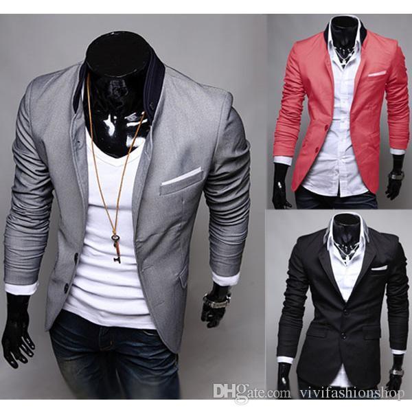 Compre Envío Gratis 2017 Hot Moda De Los Hombres Slim Fit Elegante Traje De Vestir Casual Blazer Abrigos Chaquetas Tamaño 4 Cl147 A 3981 Del Jss999