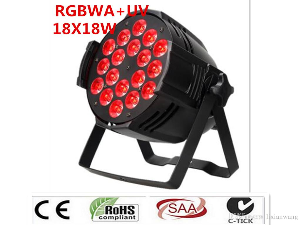 20 pz dj dj di illuminazione 18x18 w rgbwa uv 6in1 led par luce guscio في ليجا دي Alluminio