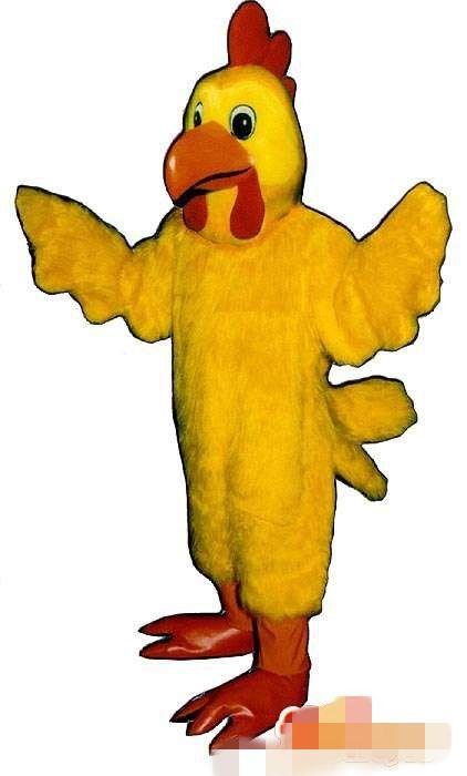 Costume della mascotte del pollo del gallo giallo su ordinazione trasporto libero
