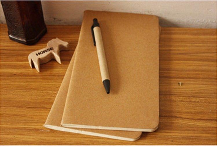 Sığır derisi kağıt dizüstü boş not defteri kitap vintage yumuşak lekelemek günlük notlar Kraft kapak günlüğü defterler 11X21 cm 8.5x4.5 Inç