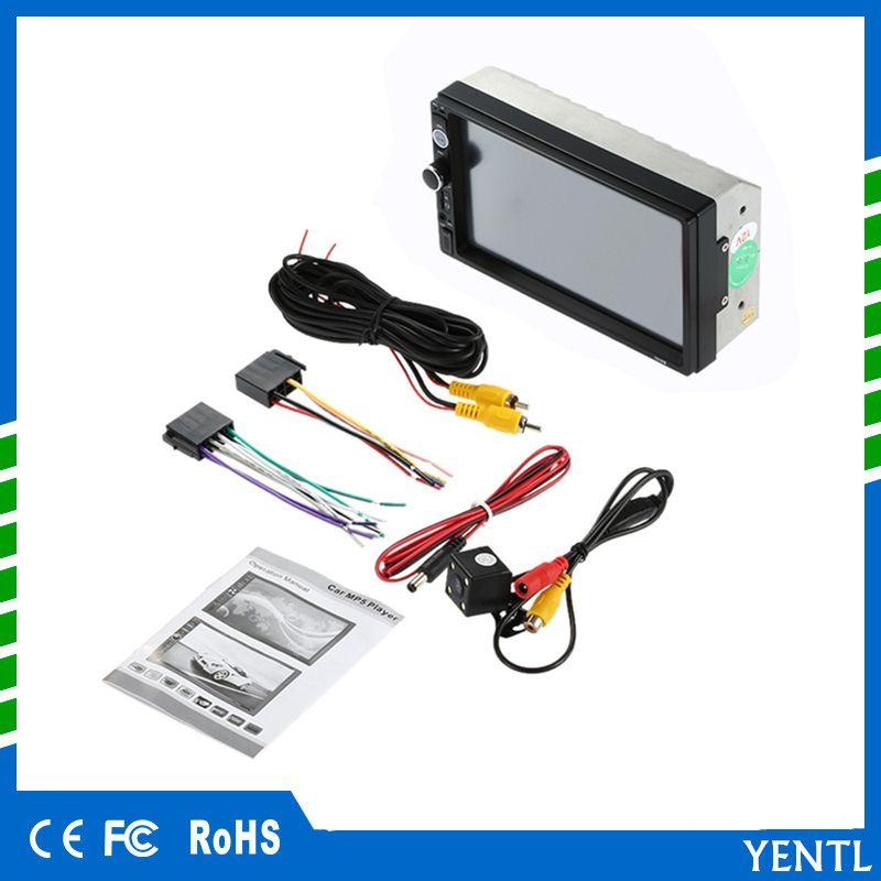 kostenloser Versand Universal Autoradio 2 Din Auto DVD Radio Doppel Din Auto MP5 Player Touchscreen Panel Player Unterstützung FM / MP5 / USB / AUX / Bluetooth