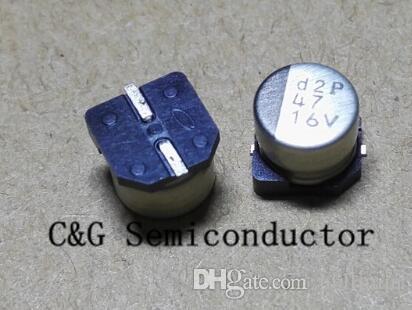 100 SZTUK 16V 47UF SMD 6x5mm Aluminiowy kondensator elektrolityczny