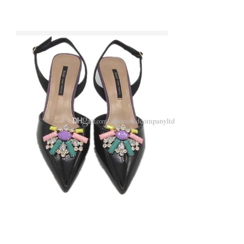 scarpe donna fiore charms clip fibbia nuziale tacco alto pompe cristallo diamante appartamenti stivali decorazione di nozze Accessori