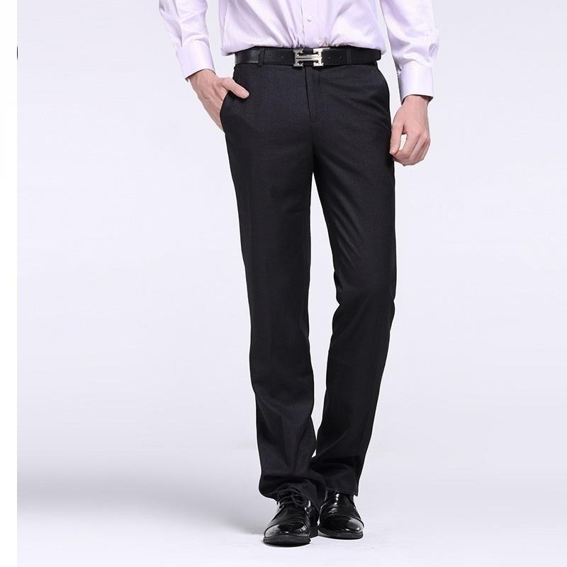 comprar popular 40cba 6c365 2019 Homme Pantalones De Vestir Hombre Slim Dress Luxe Dandy Pantalon  Skinny Costume Mariage Office Man Formal Men Pants Trousers From Fabian05,  ...