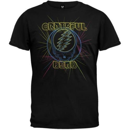 Grateful Dead - Laser Light Show Soft Adult Mens T-Shirt