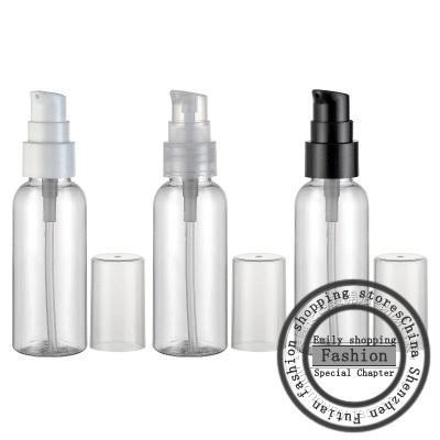50pcs, 50ml mini crema PET trasparente pompa bottiglia da 50cc viaggi svuotare bottiglia contenitore imballaggio cosmetico plastica