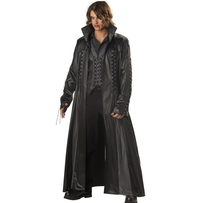 Halloween Adult Mens Vampire Costume Count Dracula Fancy Dress Outfit Cape Killers Leather Club DS Fancy Dress