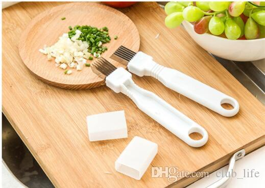 Wholesale Kitchenware Vegetable Knives Magic Multiple Blade Shredded Green Onion Knife Cut Spring Onion Device Kitchen Cooking Tools